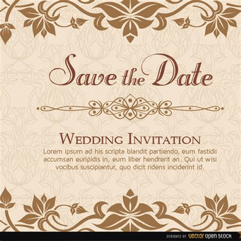 elegant wedding invitation templates orax info