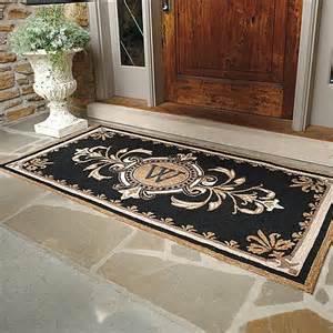 huntington monogrammed entry mat traditional doormats