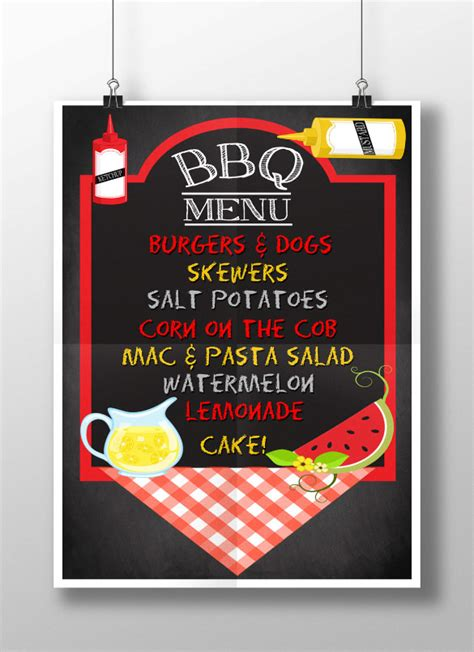 bbq menu template bbq menu templates find word templates