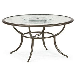 Lazy Susan For Patio Table Smith Cora Dining Table With Lazy Susan Outdoor Living Patio Furniture Tables