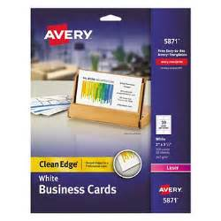 avery business card avery 5871 or 5876 clean edge business cards laser