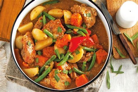 stew ideas honey mustard chicken stew recipe taste com au