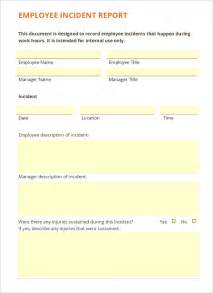 Best Report Format Template Employee Incident Report Template 10 Free Pdf Word