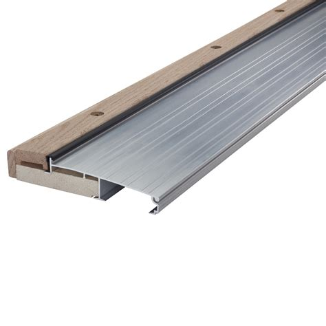 Hardwood Door Thresholds Exterior Shop M D 1 125 In X 36 In Aluminum Aluminum Wood Door Threshold At Lowes