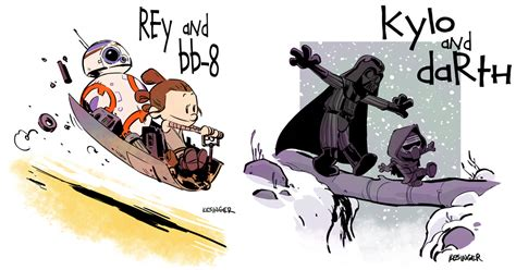 star wars reimagined as calvin amp hobbes characters