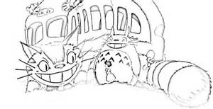 neighbor totoro coloring pages and printables totoro sketch template