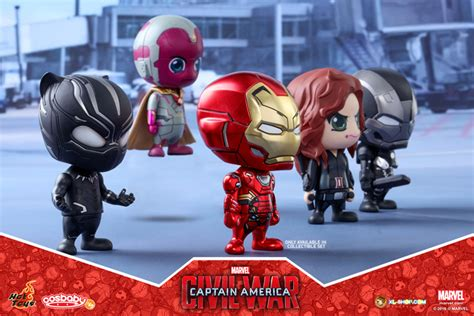 Figure Cosb Aby Cosb 253 Captain America Civil War Black Panther toys cosb257 captain america civil war team iron collectible set of 5