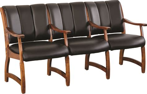 waiting room chairs midland 3 seat waiting room chair herron s amish furniture