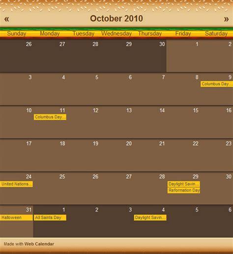 Website Calendar Web Calendar Themes Coffeecup Software Store