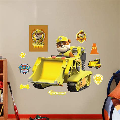 Digger Wall Stickers fathead paw patrol rubbles digger decal