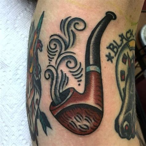 pipe tattoo designs traditional pipe pipes