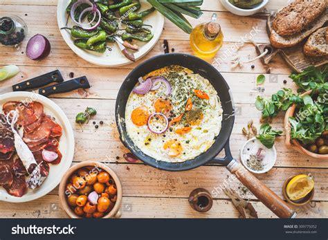 Handmade Food - food background include pan fried stock photo