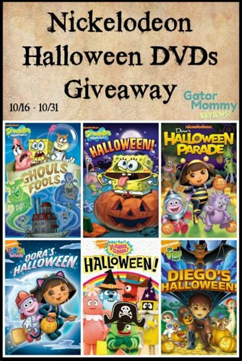 Nickelodeon Giveaway - nickelodeon halloween dvds giveaway 10 31 us can gator mommy reviews nickelodeon