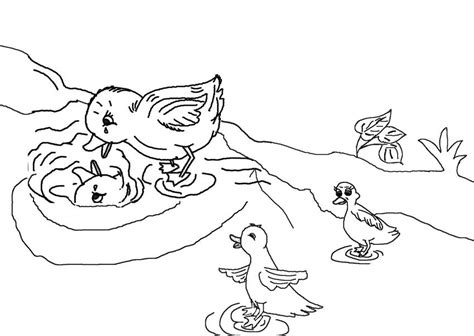 ugly duckling coloring pages coloring pages