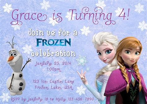 printable frozen invitations custom printable disney frozen invitation disney shops