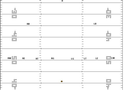 Football Is Life The 8 2 1 Kickoff Return Football Special Teams Blank Templates