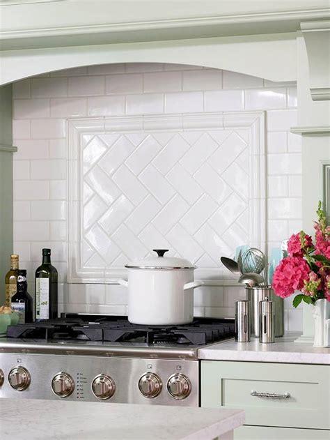 tiling patterns kitchen: subway tile herringbone pattern cottage kitchen bhg