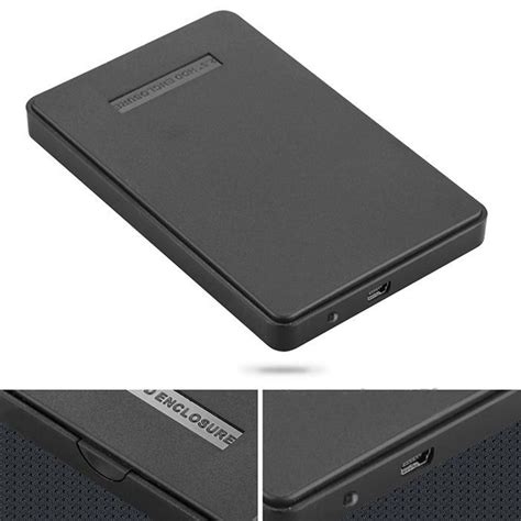 Kesing Hardisk External Hayabusa Sata Usb 2 0 Hdd 2 5 Inch P new black external enclosure for drive disk usb 2 0 sata hdd portable 2 5 quot inch