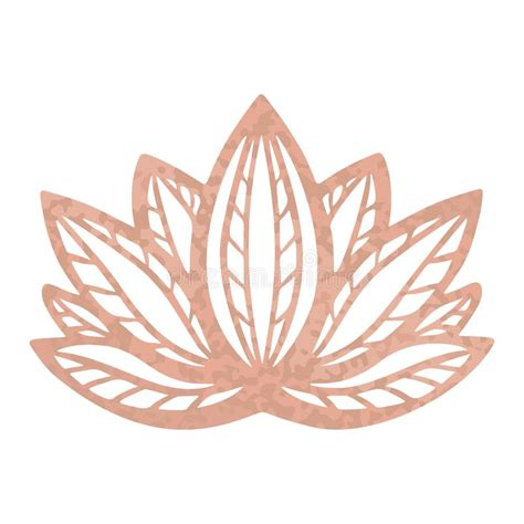 metallic tattoo rose gold foil texture stylized lotus