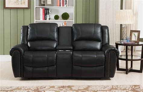 Cool Leather Recliners Sofa Glamorous Leather Loveseat Recliner 2017 Ideas