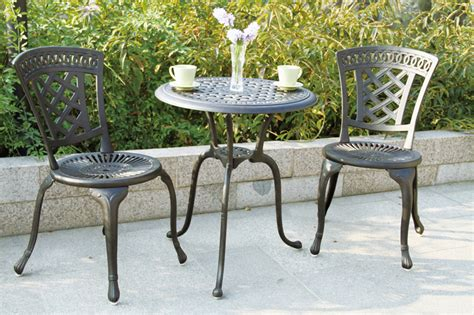 patio furniture bistro set cast aluminum new port