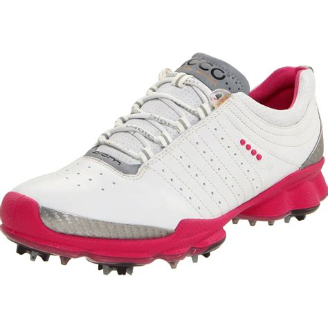 womens golf shoes ecco ecco womens biom golf shoe in pink white beetroot