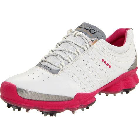 ecco ecco womens biom golf shoe in pink white beetroot