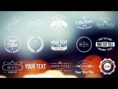 After Effects Template Title Cards Free by Vintage Labels And Titles After Effects Template