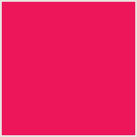 color with a ec1559 hex color rgb 236 21 89 razzmatazz red
