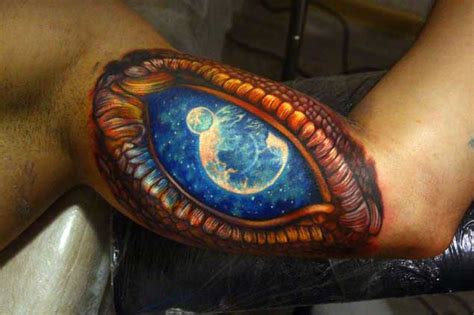 dragon eye tattoo 50 earth shattering space tattoos that are literally out