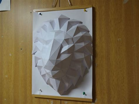 3d origami lion tutorial origamic lion this is 3d paper craft lion head made by