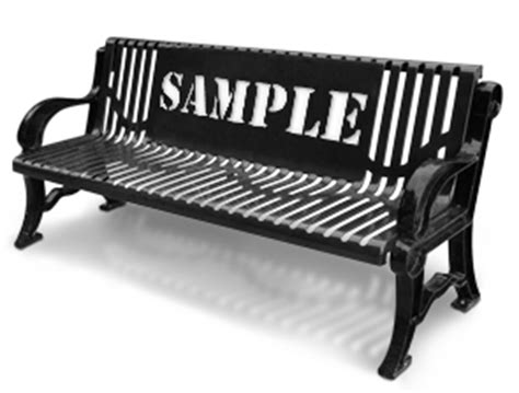personalized park benches customized garden series ribbed steel park benches belson outdoors 174