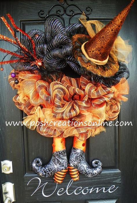 halloween wreath very creative halloween spider witch wreath orange and