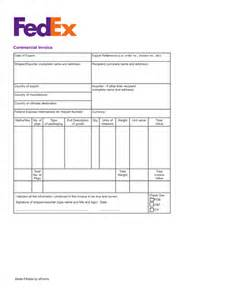 International Invoice Template by Free Fedex Commercial Invoice Template Pdf Eforms