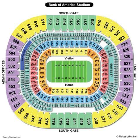 Stadium Seating by Bank Of America Stadium Seating Chart Seating Charts