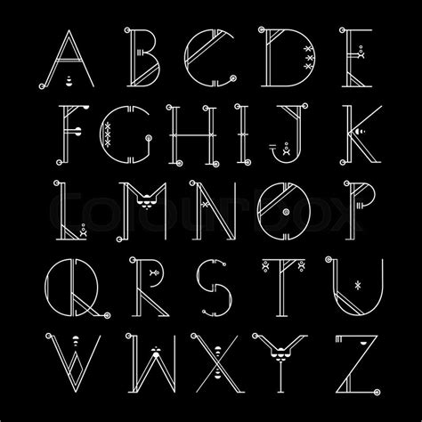 design font tumblr vector linear font simple alphabet in mono line style