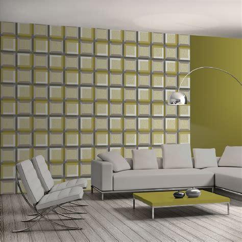 wallpaper 3d uk muriva kinetic 3d squares optical illusion geometric
