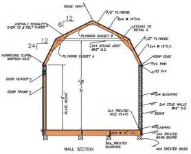 Gambrel Barn Plans gambrel shed plans amp blueprints for barn style shed on gambrel barn