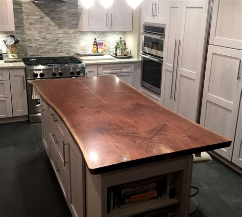 kitchen island wood countertop live edge wood countertops brooks custom