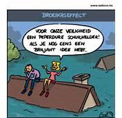 Cartoon Broeikaseffect Doet Het Water Stijgen