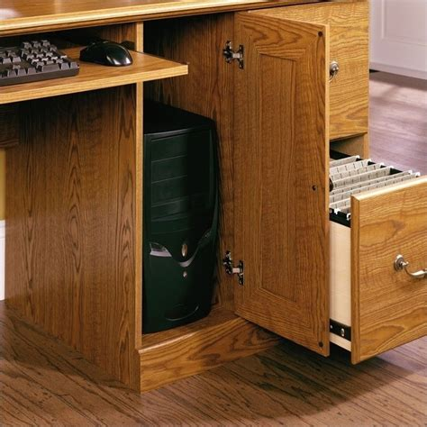 Sauder Orchard Computer Desk With Hutch by Sauder Orchard Wood Computer Desk With Hutch In
