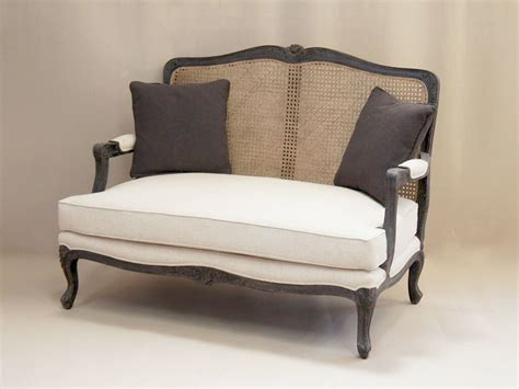 Louis french 2 seater sofa with rattan back french style sofa french furniture upholstered