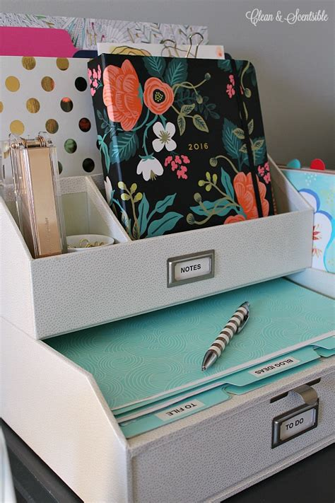 small desk organization ideas clean and scentsible
