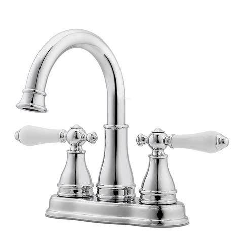 bathroom faucet lowes shop pfister sonterra polished chrome 2 handle 4 in