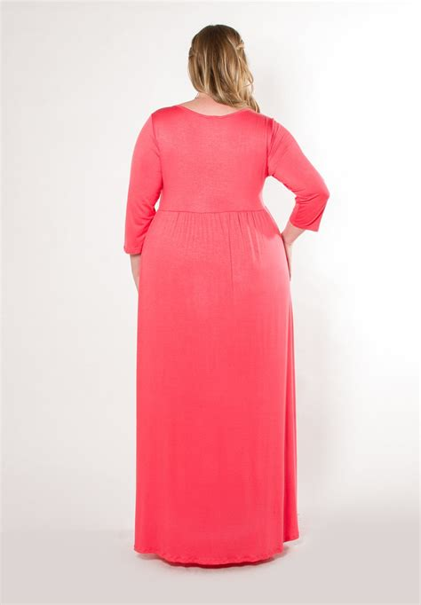 Dress 31 2 C Gd2948 stylish and gorgeous plus size dress lois maxi dress in coral swak designs