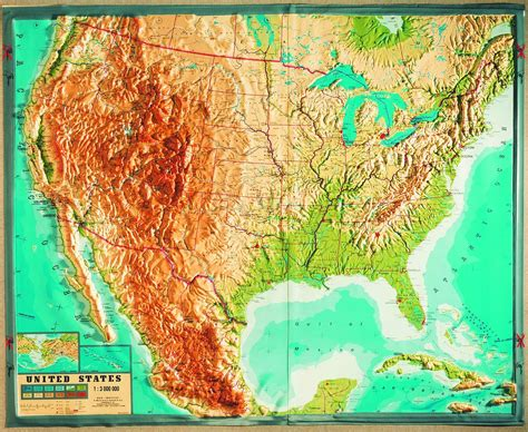 map usa relief raised physical relief maps usa relief map