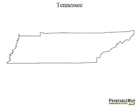 State Of Tennessee Outline by Printable Outline Map Of Tennessee Outline Of Tennessee Http Www Printablemap Net Printable