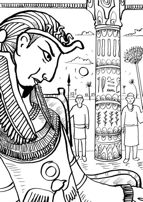 coloring pages of egyptian pharaohs egyptian pharaoh coloring page coloring home