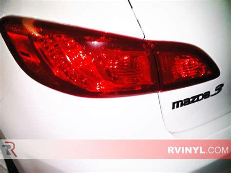 2012 mazda 3 tail light cover rtint 174 mazda mazda3 sedan 2010 2013 tail light tint film