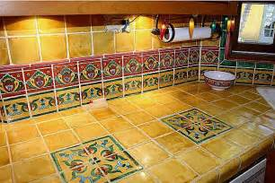 mexican tile vanity countertop closeup mexican home decor